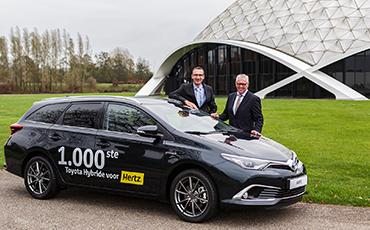 Toyota en Hertz 'Partners in Hybrid' met 1.000e hybride