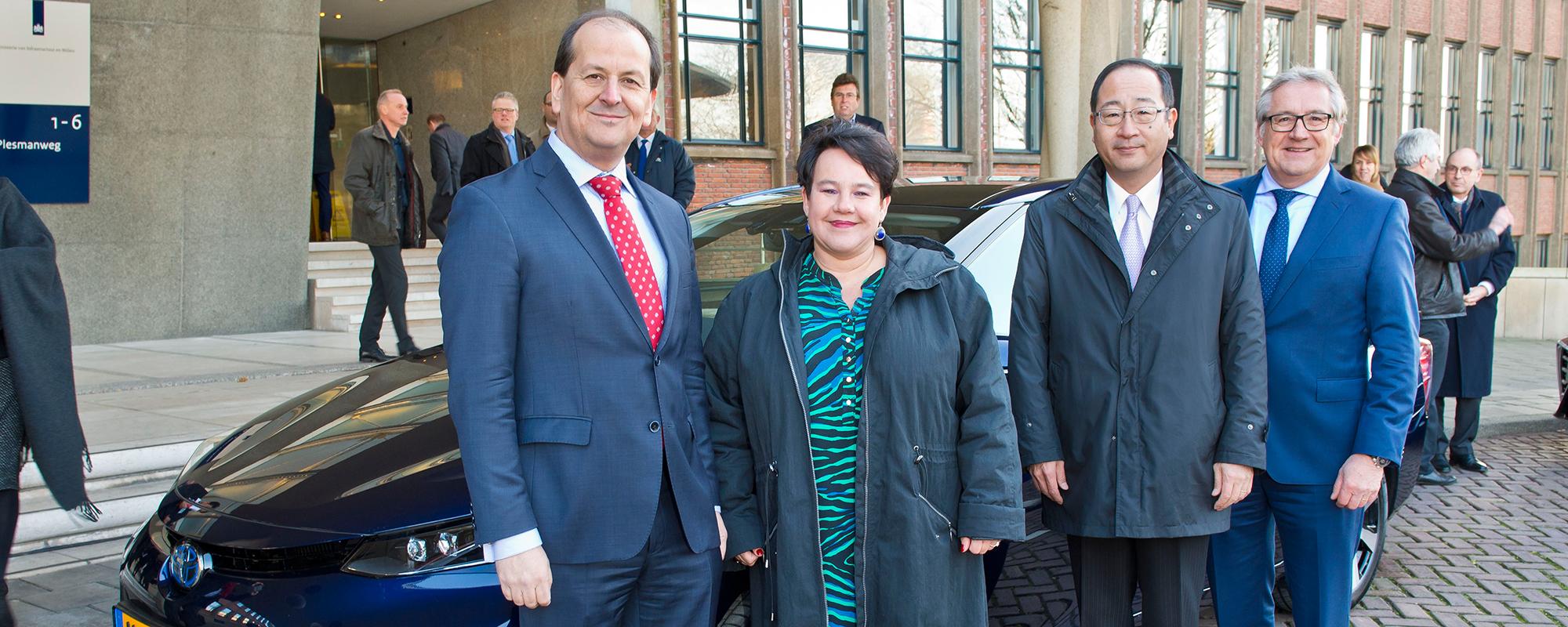 Toyota levert 2 Mirai Fuel Cell auto's aan Nederlandse overheid in kader van Nederlands Europees Voorzitterschap