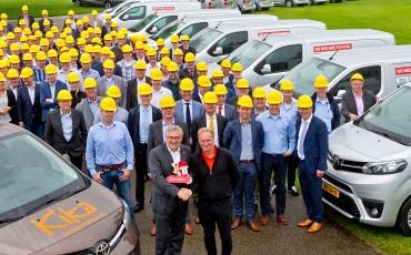 Nieuw geïntroduceerde Toyota PROACE bedrijfswagens gaan op pad voor KiKa