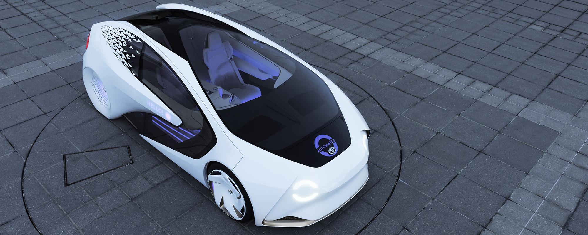 Concept-i van Toyota maakt autonoom rijden vriendelijker