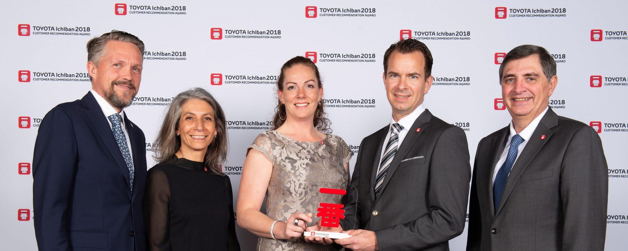 Toyota dealer Gebr. Van Gent wint voor tiende keer op rij prestigieuze Europese award voor klantervaring
