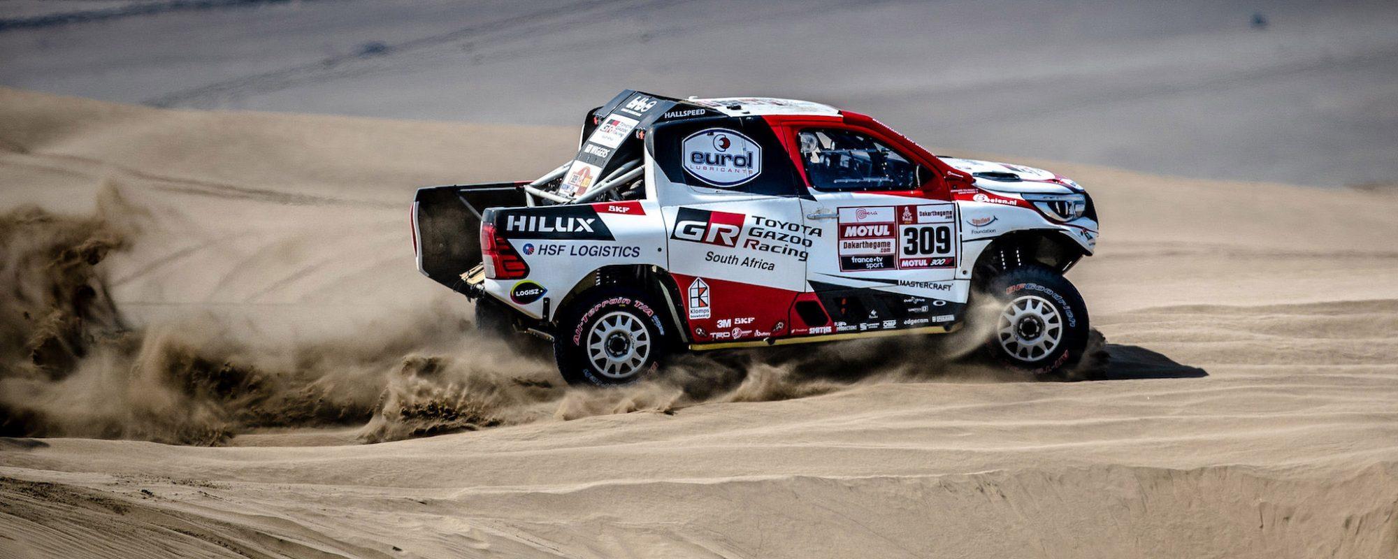 Ten Brinke op weg naar een topklassering in Dakar