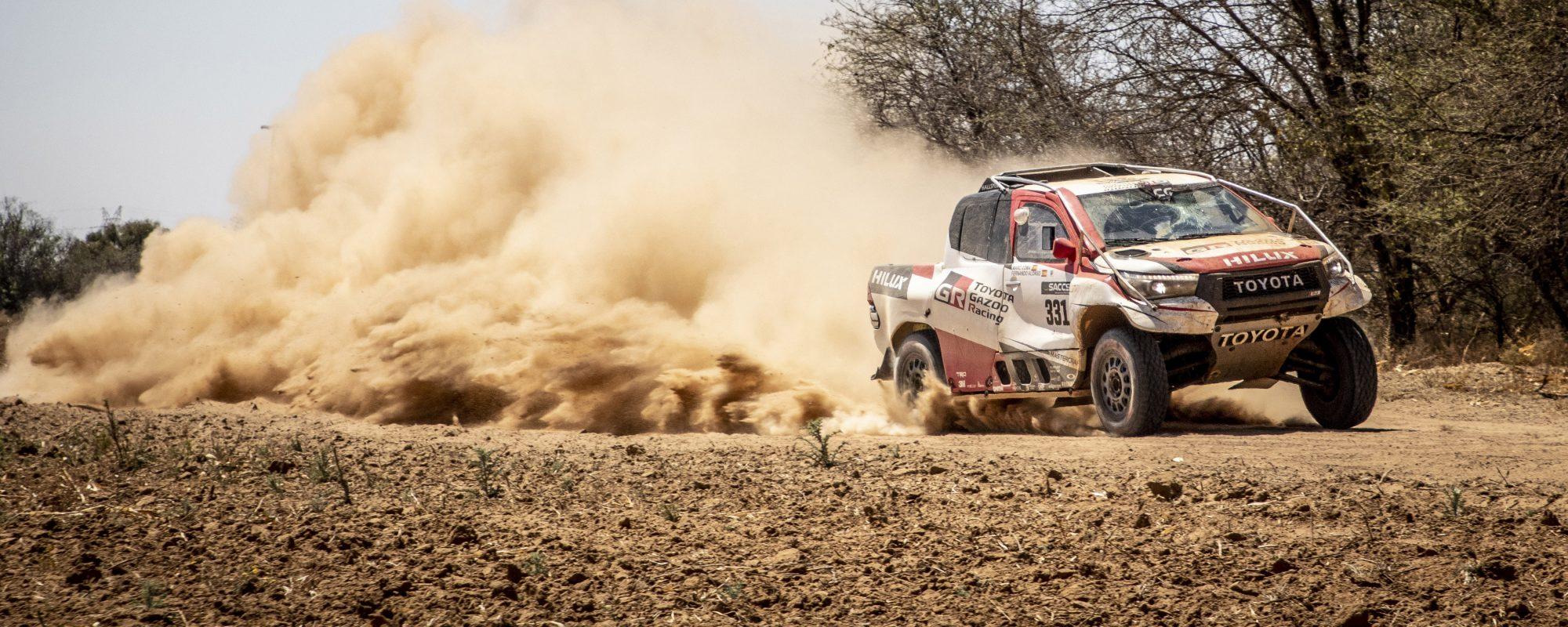 Fernando Alonso en Marc Coma trotseren uitdagende zware rallyproef in Zuid-Afrika