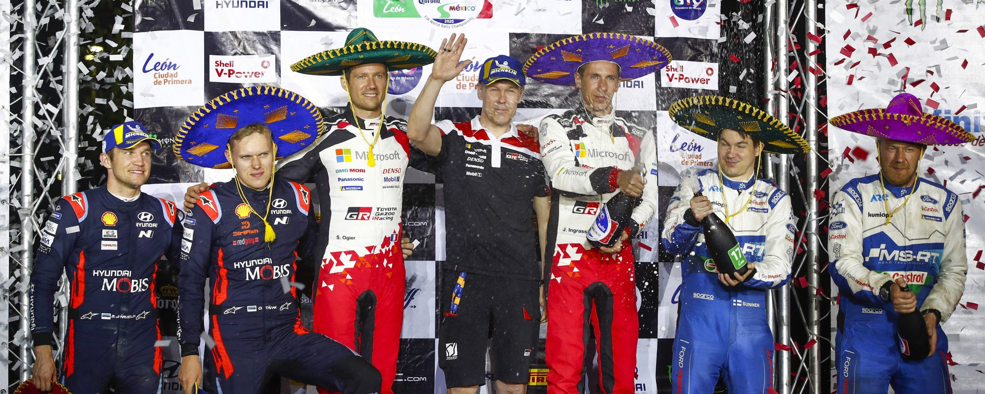 WRC-team Toyota pakt goud tijdens Rally van Mexico