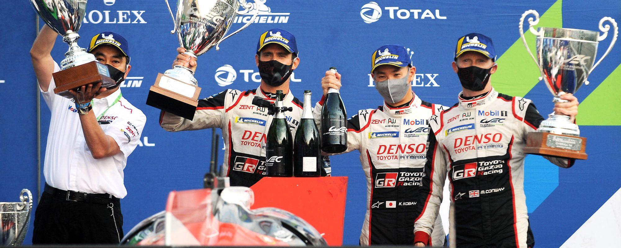 Toyota GAZOO Racing behaalt klinkende1-2-zege in World Edurance Championship