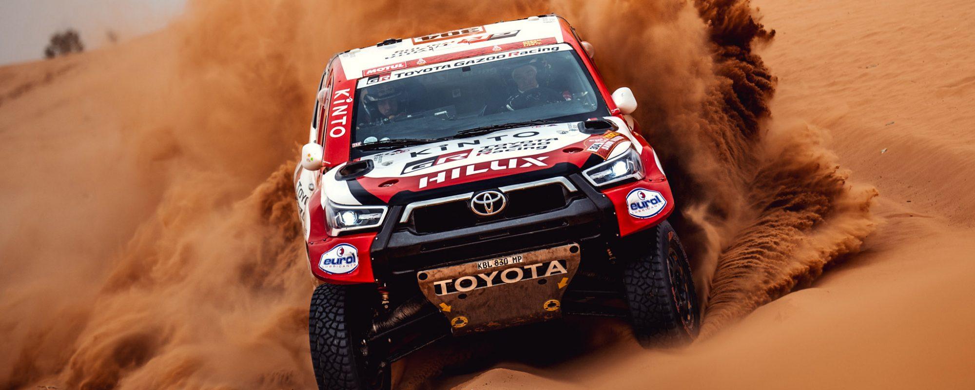 Toyota GAZOO Racing pakt vierde etappewinst in Dakar 2021