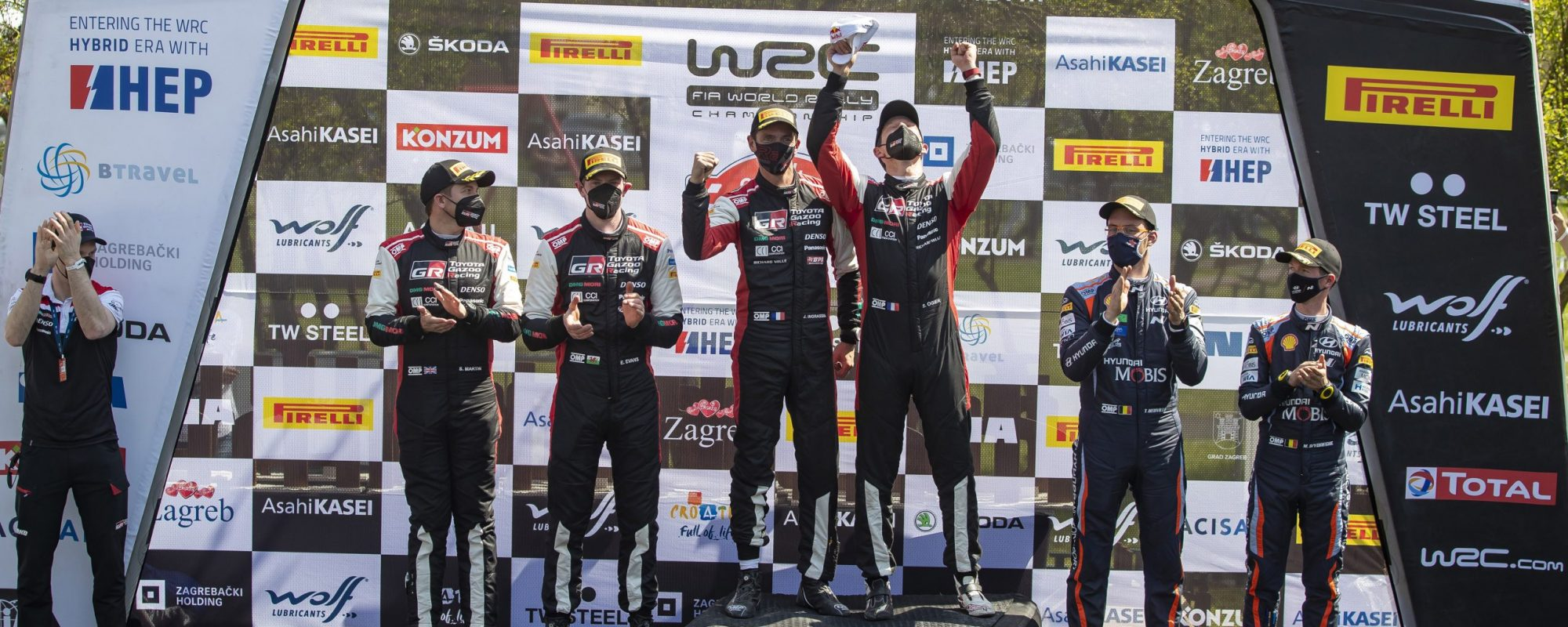Dubbele overwinning voor Toyota GAZOO Racing bij eerste WRC Rally Kroatië