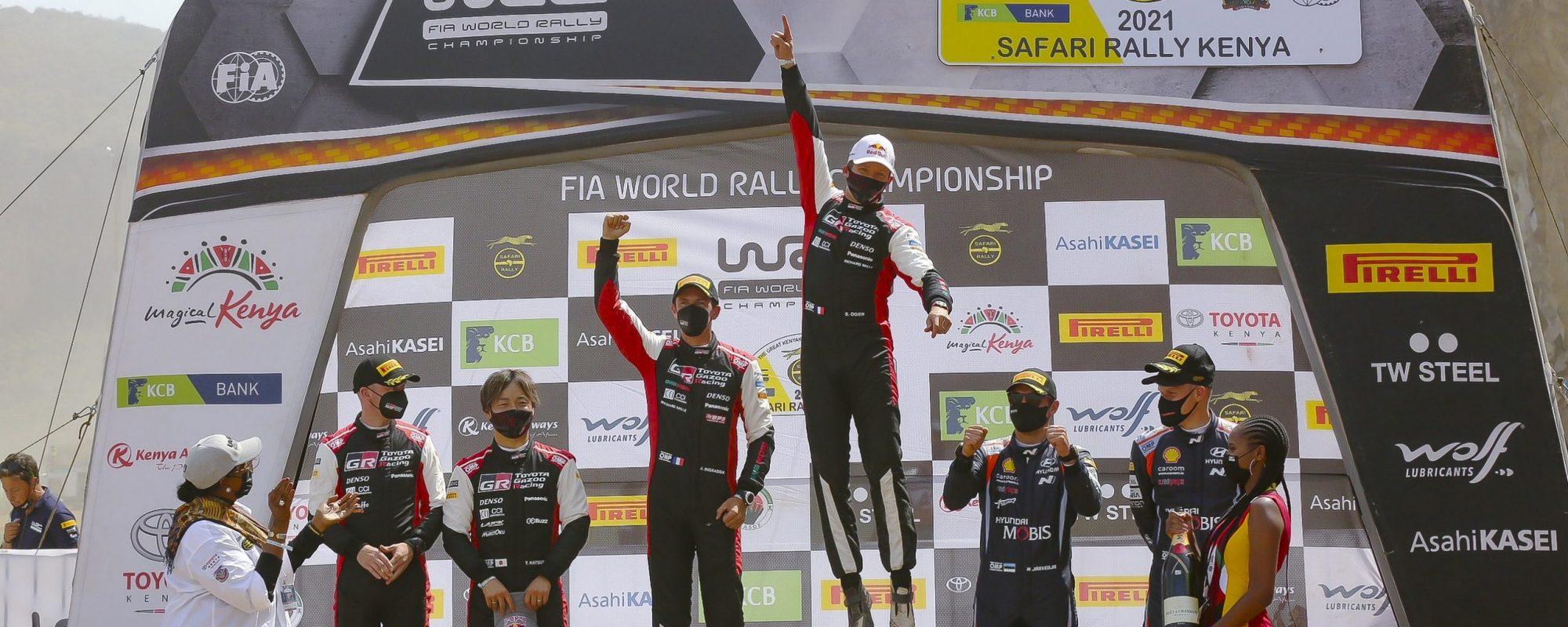 Toyota GAZOO Racing wint eerste Afrikaanse WRC-rally sinds 2002